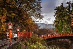 Мост Shinkyo,  NikkÅ (Tochigi) Kanto, Япония Стоковая Фотография RF