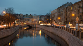 Мост Silin в Санкт-Петербурге Стоковые Изображения RF