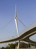 Мост Skywalk Сантьяго Калатрава Израиль Стоковые Изображения RF