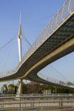 Мост Skywalk Сантьяго Калатрава Израиль стоковая фотография rf