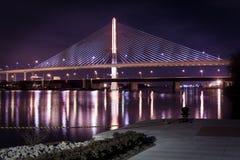 Мост Skyway города ветеранов стеклянный Стоковое Изображение RF
