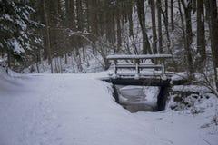 Мост Snowy Стоковое Изображение RF