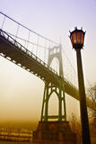 Мост St. Johns Портленда Стоковое Изображение