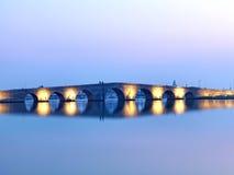 Мост Suleyman султана Kanuni в Стамбуле Стоковая Фотография