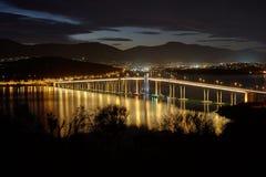 Мост Tasman на ноче Стоковые Изображения RF
