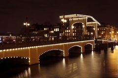 Мост Thiny в Нидерландах Амстердам Стоковая Фотография
