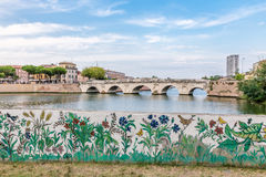 Мост Tiberius в Rimini Стоковые Изображения RF