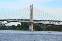 Мост Tilikum в Портленде Стоковое Изображение