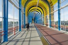 Мост trainstation Zoetermeer Нельсона Манделы Стоковые Изображения RF