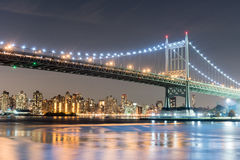 Мост Triboro/RFK в Нью-Йорке Стоковое Фото