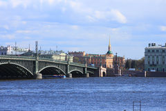 Мост Troitskiy стоковая фотография