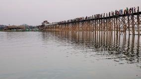 Мост Ubein в Мандалае, Мьянме Стоковые Фото