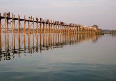 Мост Ubein в Мандалае, Мьянме Стоковое фото RF