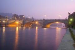 Мост Umberto i в Турине Италии Стоковое Изображение
