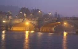 Мост Umberto i в Турине Италии Стоковое Фото