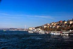 Мост Uskudar Стамбул Bosphorus Стоковое Фото