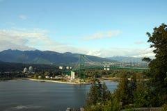 мост vancouver стоковая фотография rf