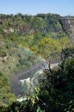 Мост Victoria Falls между Замбией и Зимбабве с радугой, стоковое фото rf