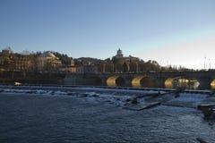 Мост Vittorio Emanuele i в Турине Стоковое Изображение