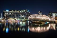 Мост Webb и банк ANZ офисы Стоковое Изображение