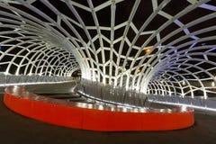 Мост Webb к ноча в Мельбурне, Австралии Стоковые Изображения