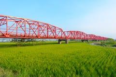 Мост Xiluo в Yunlin, Тайване Стоковое фото RF