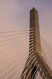 Мост Zakim, Бостон стоковая фотография rf