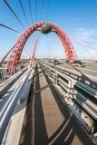 Мост Zhivopisny, который кабел-остали мост Стоковые Фотографии RF