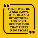 Мотивационная цитата Будет новый рассвет, будет море VI иллюстрация штока