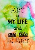 Мотивационная цитата на текстуре акварели Стоковое Фото