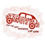 Мотивационная цитата о автомобилях Стоковая Фотография