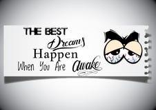 Мотивационная цитата о мечтать Стоковая Фотография