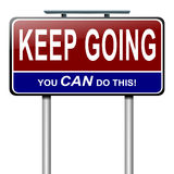 Мотивационное сообщение. Стоковое Фото