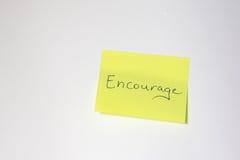 Мотивационный пост-оно Стоковое Изображение RF