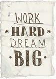 Мотивационный плакат усадьбы Стоковая Фотография RF
