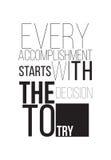 Мотивационный плакат Стоковая Фотография