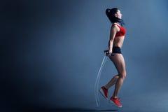Мотивировка фитнеса женщин Стоковые Изображения RF