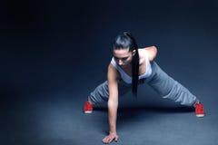 Мотивировка фитнеса женщин Стоковое Изображение
