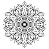Мотивы мандалы цветка декоративный сбор винограда элементов Восточная картина, иллюстрация вектора Страница книжка-раскраски Стоковые Фото