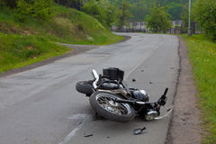 мотовелосипед аварии Стоковая Фотография RF
