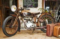 мотовелосипед старый Стоковое фото RF