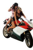 мотовелосипед hotties стоковое изображение rf