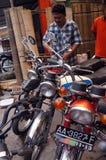 мотовелосипед старый Стоковая Фотография