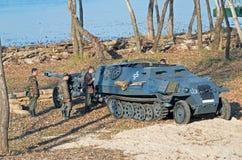 Моторизованная пехота Wehrmacht Стоковое Изображение RF