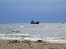 Моторная лодка в открытом море, Украине Стоковые Изображения