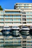 Моторные лодки в Марине в Хорватии Стоковое фото RF