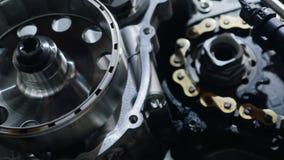Мотор мотоцилк в деталях сток-видео