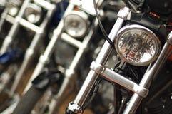мотоциклы поля глубины отмелые Стоковая Фотография