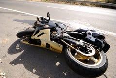 мотоцикл аварии Стоковые Изображения