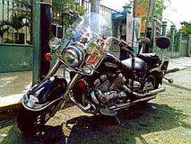 Мотоцикл в дороге стоковые фото